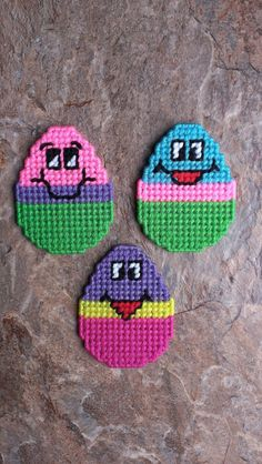 Plastic Canvas Eggs by sweetsolutions on Etsy