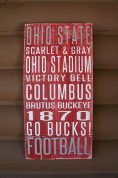 Ohio State Wall Art buckeye love | buckeye born | pinterest | friendship, my heart and ios