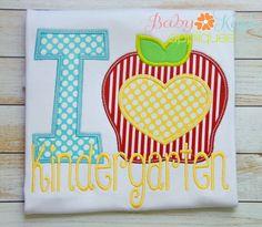 Baby Kay's Appliques - I Heart Apple Kindergarten 4x4, 5x7, 6x10, 8x8, $1.50 (http://www.babykaysappliques.com/i-heart-apple-kindergarten-4x4-5x7-6x10-8x8/)