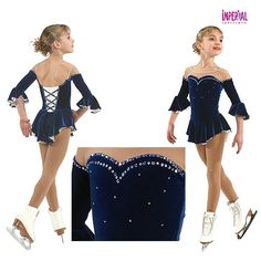 Custom ice skating dresses for sale. Browse our creative collection of figure skating outfits for both girls and ladies. Figure Skating Outfits, Figure Skating Costumes, Figure Skating Dresses, Custom Dresses, Navy Dress, Costume Dress, Dance Costumes, Dresses For Sale, Girl Outfits