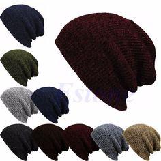Hiver Casual Coton Tricot Chapeaux Pour Femmes Hommes Baggy Beanie Chapeau Crochet Slouchy Surdimensionné Ski Chapeau Chaud Skullies Toucas Gorros-J117