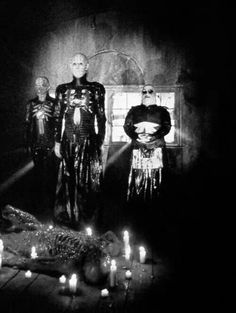 Cenobites from Clive Barker's Hellraiser. Hands Down and Thumbs Up One Of The Best Movie's Ever Made.