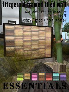 Fitzgerald Framed Tiled Wall Ad by essentials4SL - New @ Essentials http://maps.secondlife.com/secondlife/Mago/109/43/21