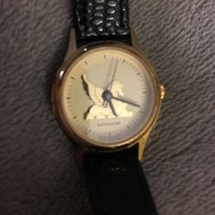Vintage Wittnauer watch Lovely watch in great condition.  All parts original. Needs a battery. Gold tone face with Pegasus. Croc band. Very pretty piece. Thanks! Wittnauer Accessories Watches
