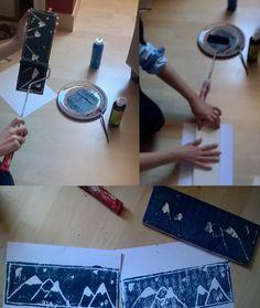 école - estampe - art - Hokusai - ukiyo-e - cycle 3 - polystyrène extrudé - montagne
