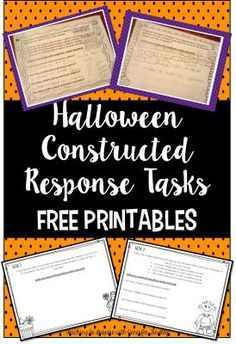 Halloween Math Constructed Response Practice. These two FREE tasks review multiplying and dividing fractions by whole numbers. - Teaching to Inspire with Jennifer Findley