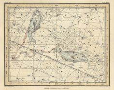 Constellation of the Pisces Galaxy Antique map by mapsandposters, $11.88