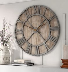 Oversized eglinton roman numerals barnwood wall clock in Living Room Clocks, Barnwood Wall, Living Room Decor, Wall Decor Living Room, Clock Wall Decor, Rustic Living Room, Wall Clocks Living Room, Farmhouse Wall Decor, Living Room Designs