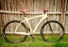 Chris Connor is a woodworker. He makes gorgeous furniture. He builds amazing guitars. And speakers. And, well, 29ers like his Woody Scorcher.