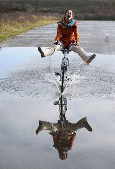 This much fun can only happen on a bike