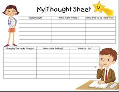 CBT Thought Sheet Think Sheet, Cbt, Therapy, Thoughts, Words, Creative, Healing, Horse, Ideas