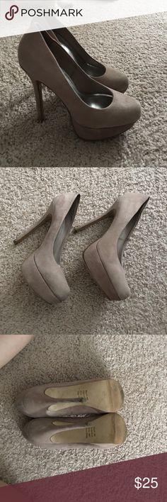 Nude pumps Comfortable nude pumps - good condition Bakers Shoes Platforms