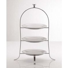 Cake Plate Stand 49 X 24 5cm Silver Plated 3 Tier For Plates Up