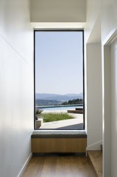 Picture window with seat.