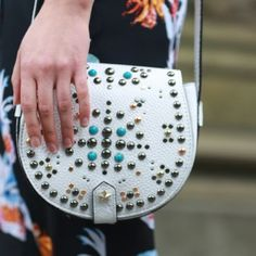 Rebecca Minkoff White Studded Bag SO gorgeous and perfect for festival season! 100% sold out everywhere and brand new! Blogger favorite! No trades!! 5715120tmr Rebecca Minkoff Bags