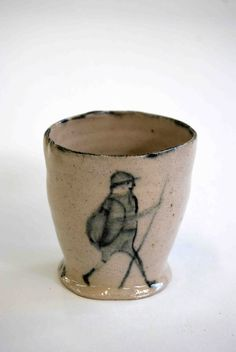 One- off hand thrown ceramic pot made by Alex Sickling  approx height - 7cm    Was £40 NOW 50% OFF