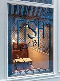 Fish Club restaurant, design by Dorothée Meilichzon, Paris