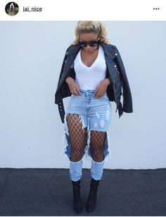 Ripped Denim and Fish Nets