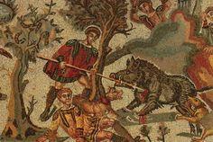 Mosaic from Roman villa del Casale, Piazza Armerina, Sicily.