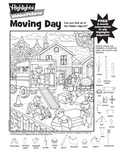Hidden Picture Puzzles Pages - Hidden Picture Puzzles Pages, Hidden Pictures Printables.highlights In the Classroom. Hidden Picture Games, Hidden Picture Puzzles, Airplane Activities, Fun Activities, Baby Activites, Colouring Pages, Coloring Books, Hidden Pictures Printables, Highlights Hidden Pictures