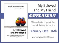 My Beloved and My Friend Book Giveaway - My Joy-Filled Life