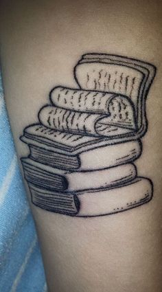 Books tattoo for serious book lovers