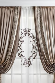 Chicca Orlando Italian company, produce luxury home textiles and furniture made in Italy, with high quality embroidery fabric and unique design.Chicca Orlando creates curtains and home textile with total customization and exclusive Italian style. Diy Bay Window Curtains, Fancy Curtains, Classic Curtains, Drapes And Blinds, Luxury Curtains, Elegant Curtains, Home Curtains, Beautiful Curtains, Curtain Styles