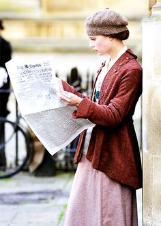 Alicia Vikander on set of Testament of Youth.  Tumblr