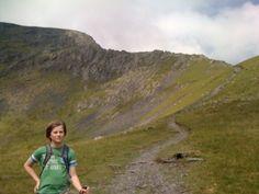 Blencathra Summit in Cumbria, Cumbria - with my son Joe June 2009