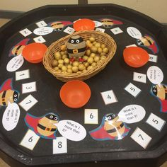 A post from Counting out supertatos and adding 1 more in maths this week Eyfs Classroom, Classroom Games, Classroom Ideas, What Is 5, Eyfs Activities, Tuff Tray, Food Themes, Numeracy, Continuous Provision