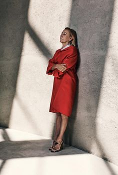 SHADOWS AND LIGHT | Miuccia Prada, photographed at the Rem Koolhaas–designed Fondazione Prada, which opened...
