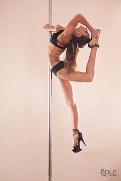 Extended Embrace.  Pole: Elbow Hold by Marion Crampe http://storeerotic.com/pole-dancing-pole/