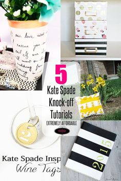 Don't spend tonnes of dollars on designer pieces, instead make them on your own with less than a hundred dollar. 5 different Kate Spade knock-offs.
