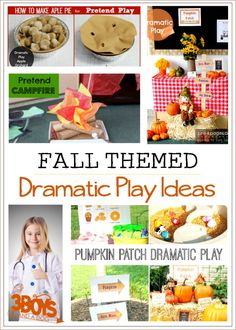 Fall Themed Dramatic Play Ideas and Printables