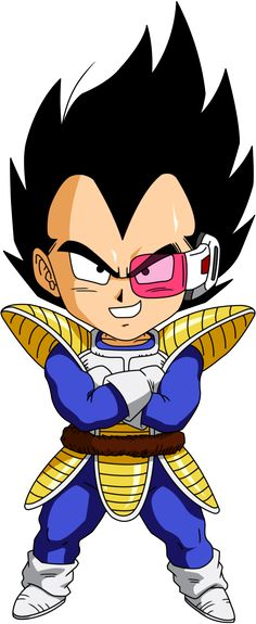 Personajes Chibi de Dragon Ball- Vegeta Explorador