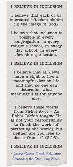 I Believe in Inclusion