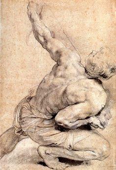 Peter Paul Rubens ~ Study for Raising of the Cross, 1610