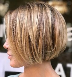 Great Stylish Short Hairstyles for Women with Fine Hair – Hair Styles Layered Bob Haircuts, Bob Haircuts For Women, Short Hairstyles For Women, Hairstyles 2018, Bob Hairstyles For Thick Hair, Bob Style Haircuts, Blunt Bob Haircuts, Modern Bob Hairstyles, Bobs For Thin Hair