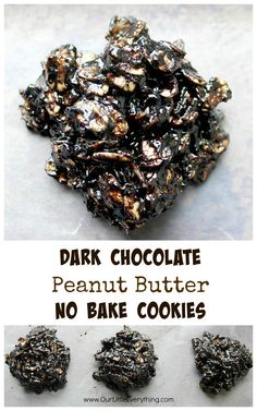 Dark Chocolate No Bake Cookies - dark chocolate makes these classic cookies even richer and more delicious!