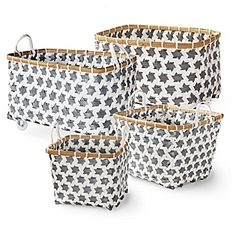 One with wheels...cool ! Mercado Baskets – Pewter #serenaandlily