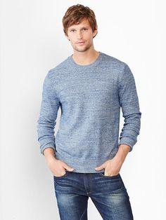 Marled crewneck sweater