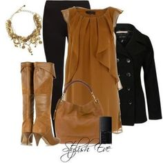Autumn and winter can pull this off! Work Fashion, High Fashion, Winter Fashion, Fashion Outfits, Womens Fashion, Stylish Eve Outfits, Cool Outfits, Jean Outfits, Plus Size Fashion