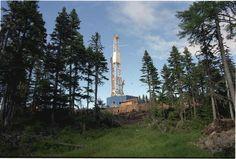 Drilling rig at Sakhalin Island