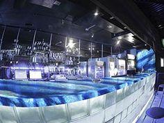 bar with crystal soft blue onyx