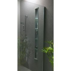 KOHLER Pilaster Wall-Mount Aluminum Shower Niche in Satin Silver-K-1840-SS - The Home Depot