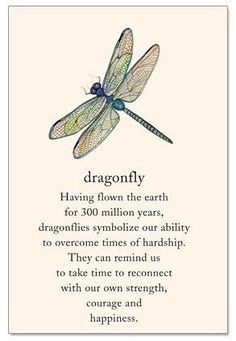 #Tattoo Dragonfly Support Encouragement Card, Click to See More...