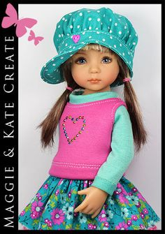 Turquoise-Pink-Outfit-for-Little-Darlings-Effner-13-by-Maggie-Kate-Create