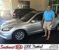 https://flic.kr/p/GzmCtQ   Congratulations Jessie on your #Honda #Accord Sdn from Kyle Wynn at Southwest Kia Mesquite!   deliverymaxx.com/DealerReviews.aspx?DealerCode=VNDX