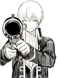Sougo with his typical bazooka :)