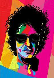 Gustavo Adrián Cerati  ; Fue el cantante Argentino de la banda de rock Soda Stereo  #Arte #Picture #Music #Musica Soda Stereo, Denim Decor, Rock Argentino, Art Base, Arte Pop, Cubism, Bob Dylan, Cool Logo, Celebrity Caricatures